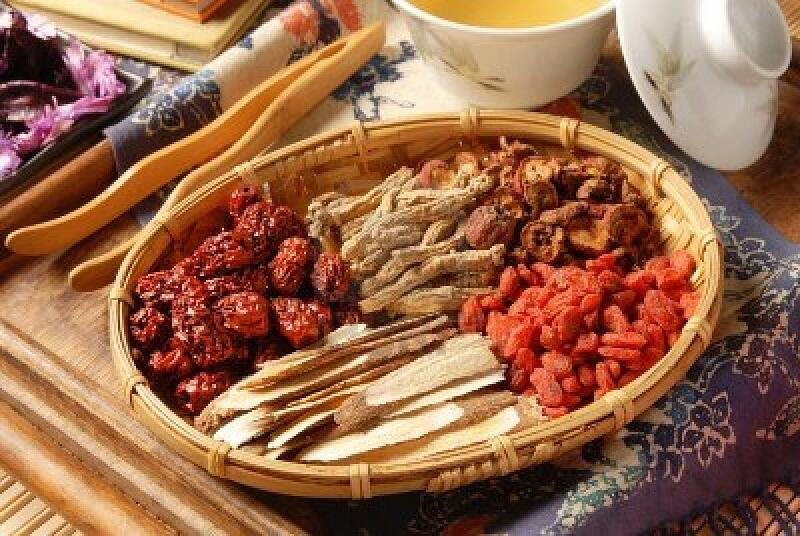 8551802-different-kind-of-chinese-herbal-medicine-on-wicker-baskets