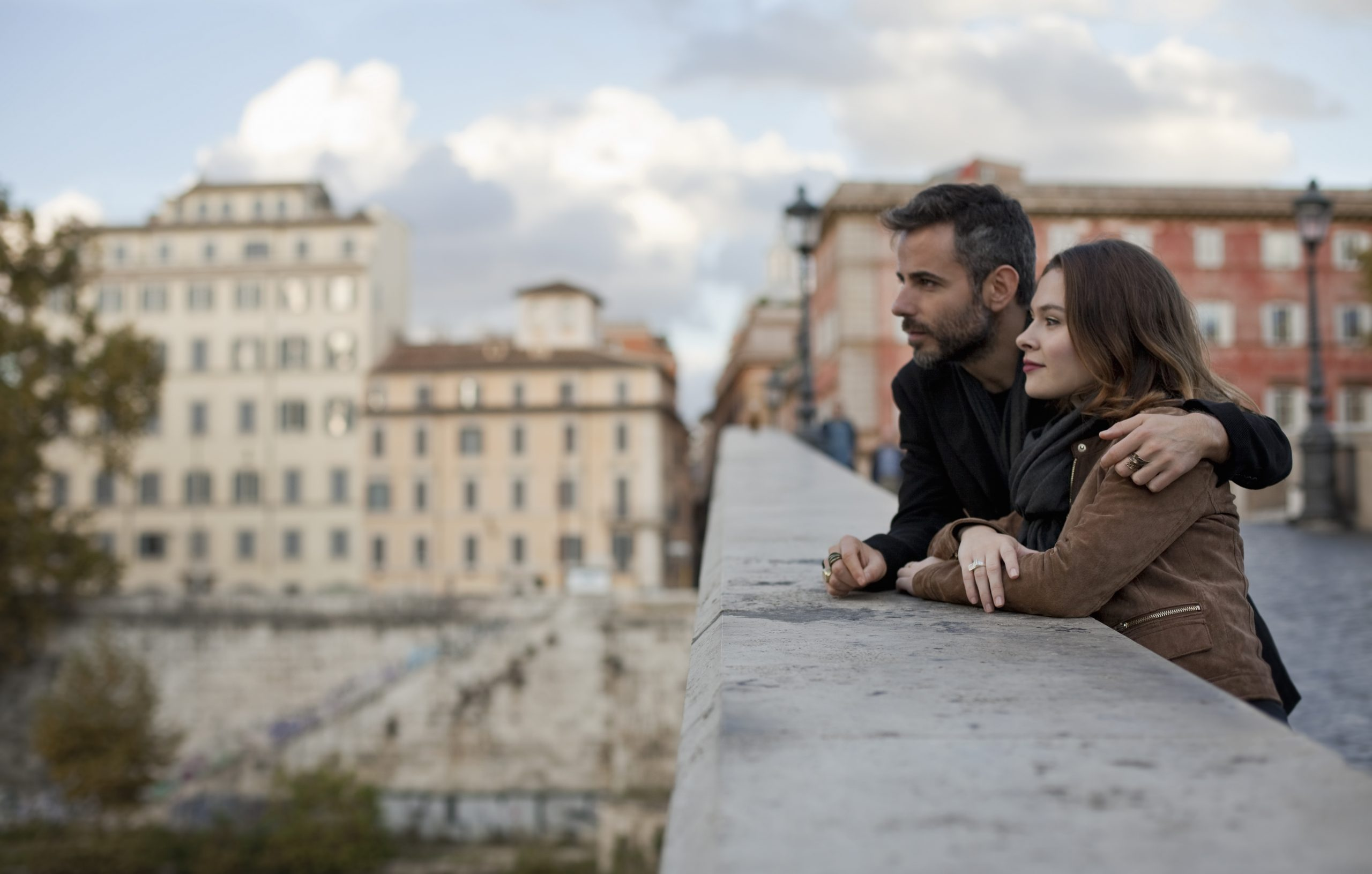 Couple in Rome thinking about their fertility